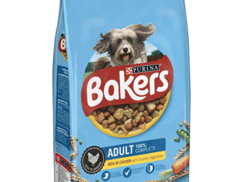 Bakers adult complete dog food package