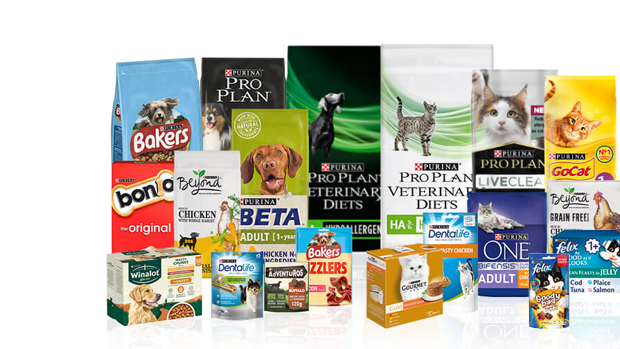 All the Purina brands