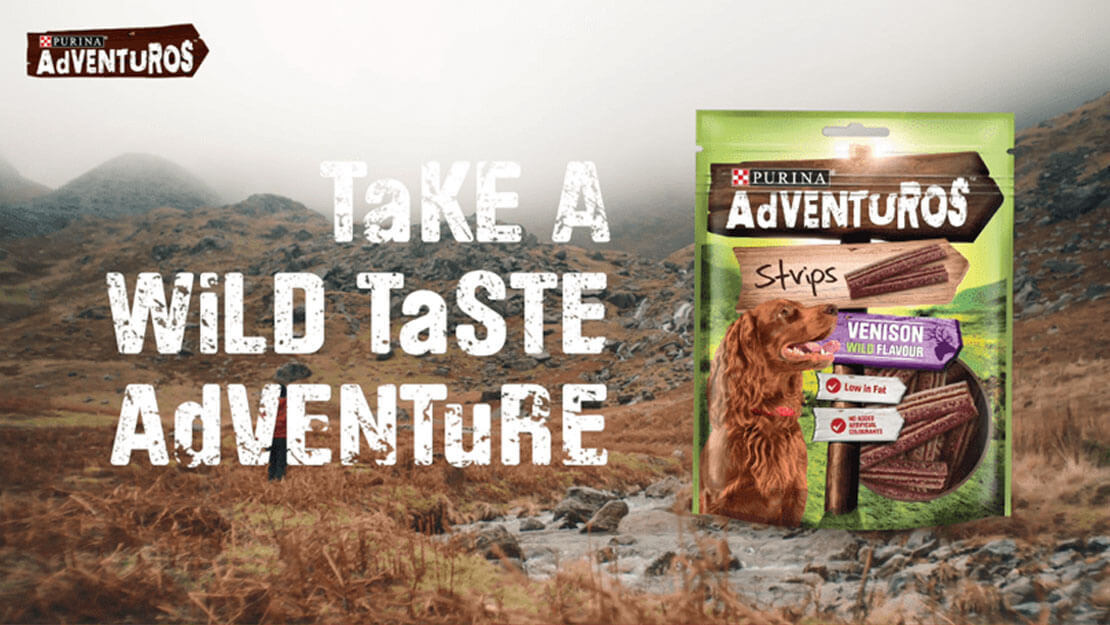 Dog food Adventuros listing page