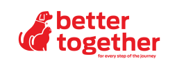 Better together logo with dog and cat