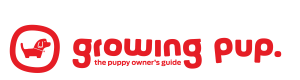 Growing pup logo