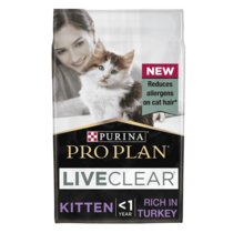 PRO PLAN Kitten Allergen Reducing LIVECLEAR Turkey Dry Cat Food
