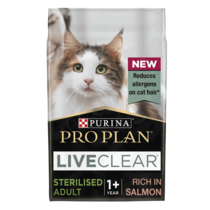 PRO PLAN Allergen Reducing Sterlised LIVECLEAR Salmon Dry Cat Food