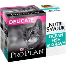 PRO PLAN Sensitive Digestion NUTRISAVOUR Ocean Fish in Gravy Wet Cat Food