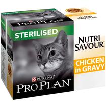 PRO PLAN Sterilised NUTRISAVOUR Chicken in Gravy Wet Cat Food
