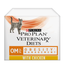 PRO PLAN VETERINARY DIETS OM Obesity Management Chicken Wet Cat Food Pouch