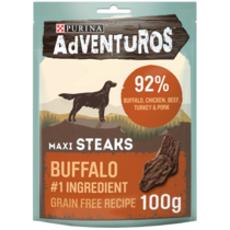 ADVENTUROS Maxi Steaks Buffalo Dog Treats