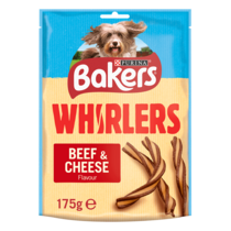 BAKERS® Whirlers Beef and Cheese Dog Treats