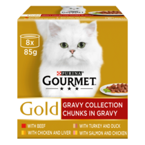 GOURMET® Gold Chunks in Gravy Collection Wet Cat Food