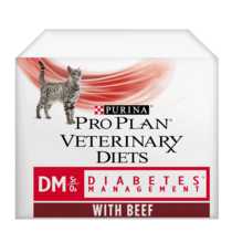 PRO PLAN VETERINARY DIETS DM Diabetes Management Beef Wet Cat Food Pouch
