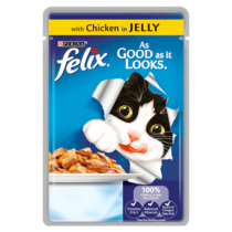 FELIX® As Good As it Looks Chicken in Jelly Wet Cat Food