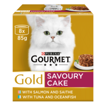 GOURMET® Gold Savoury Cake Duo Fish Wet Cat Food