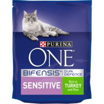 PURINA ONE® Sensitive Turkey and Rice Dry Cat Food