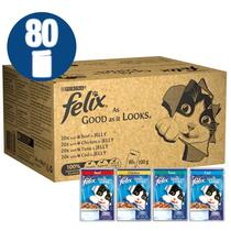FELIX® As Good As it Looks Mixed Selection in Jelly (Beef, Chicken, Cod, Tuna) Wet Cat Food 120 pack