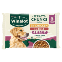 WINALOT® Meaty Chunks Mixed in Jelly Beef and Chicken Wet Dog Food Pouch
