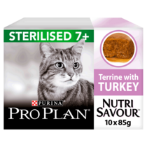 PRO PLAN Adult 7+ Sterilised NUTRISAVOUR Turkey Wet Cat Food