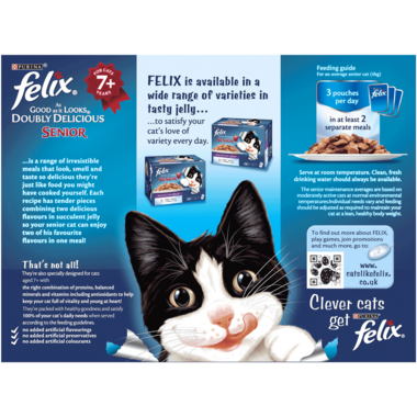 FELIX As Good As it Looks Doubly Delicious Senior Meaty Selection Wet Cat Food