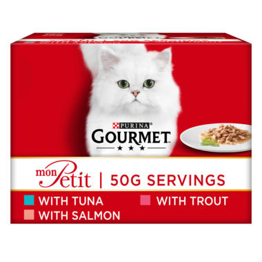 GOURMET® Mon Petit Fish Variety (Tuna, Salmon and Trout) Wet Cat Food