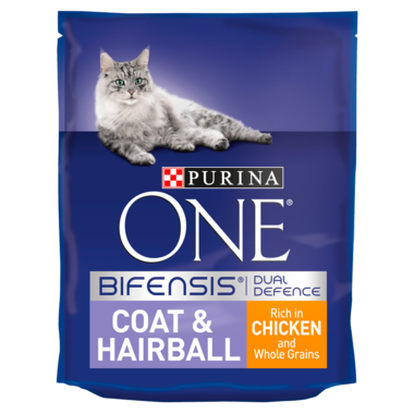 PURINA ONE® Coat and Hairball Chicken and Wholegrain Dry Cat Food