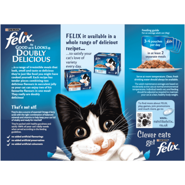 FELIX® As Good As it Looks Doubly Delicious Ocean Recipes Wet Cat Food