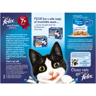 7197 FELIX® As Good As it Looks Senior Meat Selection in Jelly Wet Cat Food
