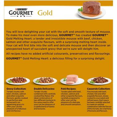GOURMET® Gold Melting Heart Meat and Fish Wet Cat Food