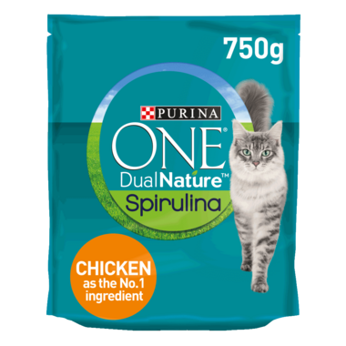 PURINA ONE Dual Nature Chicken and Spirulina Dry Cat Food