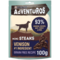 ADVENTUROS® Mini Steaks Wild Venison Flavour come with a bold taste and an irresistibly rough texture. Discover a dog snack your dog will enjoy every time.